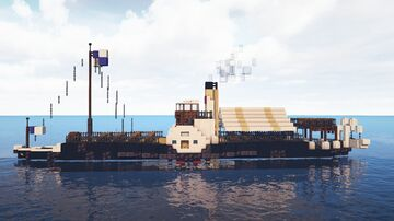PS Miss Carousel - 1900s Paddle Steamer (Based on PS Kingswear Castle) Minecraft Map & Project