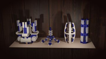 White and blue Minecraft Map & Project