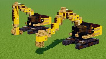 CAT 336E Excavator Construction Vehicle Minecraft Map & Project