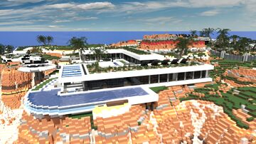 Party/Private - Modern villa Minecraft Map & Project