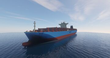 MAERSK ELBA CONTAINER SHIP 1:1 SCALE. 2020 VERSION Minecraft Map & Project