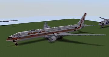 Garuda Indonesia Boeing 777-3U3ER Retro livery (1969-85s livery - May 1st refix) Minecraft Map & Project