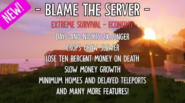 [1.16.1] ⛏️ BlameTheServer [European/Quiet/Calm] ⛏️⚠️ Extreme Survival 💰 eConomy 🐕 Minigames 😄 Friendly 🌟 AND MORE! 🌟 Minecraft Server