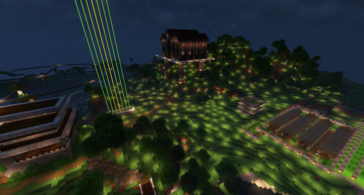 Spaz Town, another of the server's prominent towns.