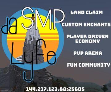 daSMP-Lyfe 1.15.2 (MCMMO) (Custom Enchantments) (Land Claim) (No Phantoms) (And More) Minecraft Server
