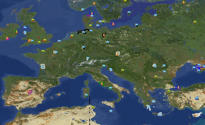 Europe as viewed from Dynmap