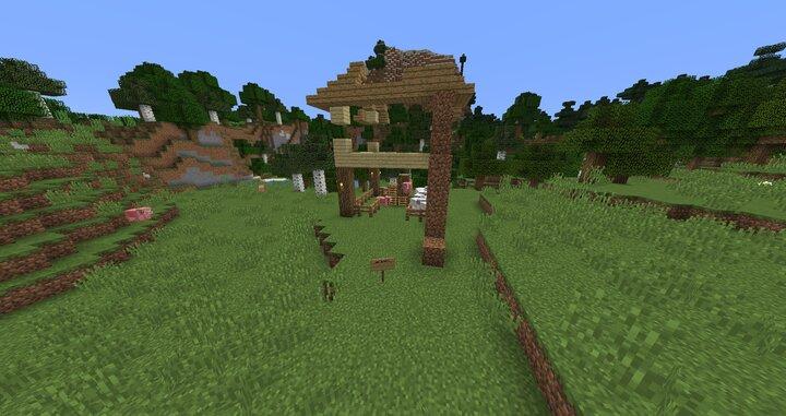 Griefed house near spawn