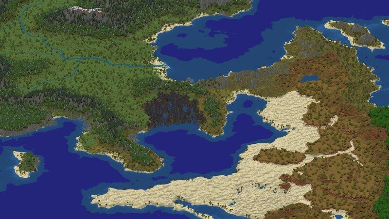 Community project world with custom terrain