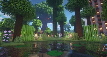 [ Lush Survival ]  🏡 Land Claim | 🌲 Trees Fall When Cut |  🏪 Player Shops | ⛏️ mcMMO Minecraft Server
