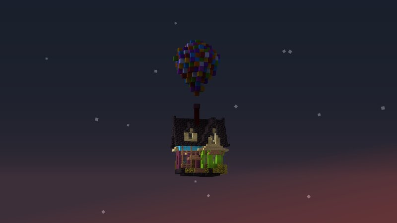 Brettamin's Up themed house. He also built the Hot Air Balloon at Spawn!
