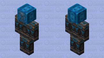 Frozen Skull In Ice Block | 2X HD Minecraft Skin