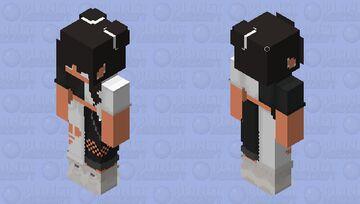 black n white Minecraft Skin