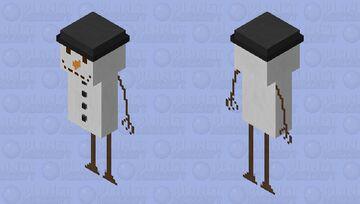 Snow Man Spongie's Skinmas #1 Minecraft Skin