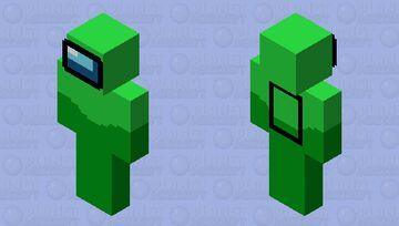 Lime - Among Us (HD Skin) Minecraft Skin
