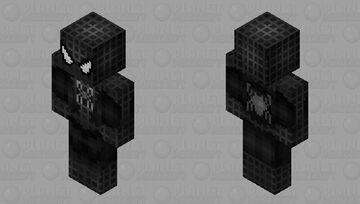 HD Spiderman 3 2007 Venom Uniform Minecraft Skin