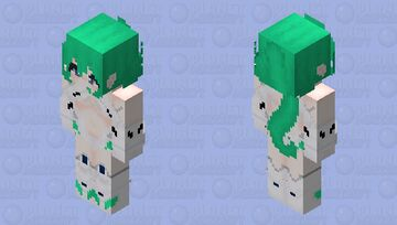 Green Heart (Hyperdimention Neptunia) HD Minecraft Skin
