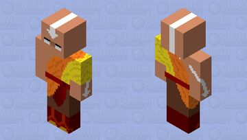 Avatar Aang (Young)|Avatar state Minecraft Skin