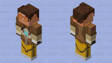 tracer from overwatch Minecraft Skin