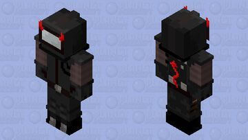 Among Us Imposter Black Minecraft Skin