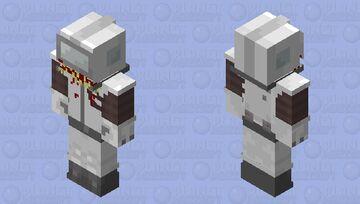 Among Us Suspicious White Minecraft Skin