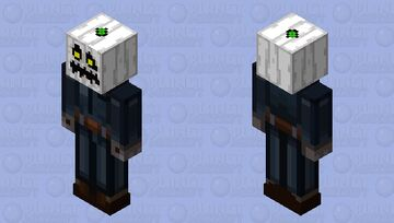 Skintober #5 (Pumpkin) - The White Pumpkin (Spooktober Event Submission) Minecraft Skin