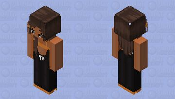 Orange & Black Lounge Outfit Minecraft Skin