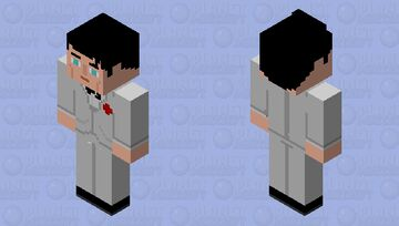Bruce Wayne white tux update Minecraft Skin