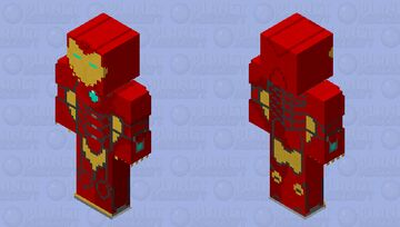 Invencible Iron man model 51 HQs Minecraft Skin
