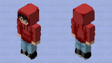 Sad Red Hoodie Guy Minecraft Skin