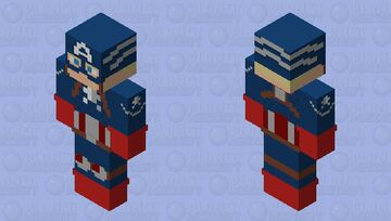 Captain America WW Suit | Custom Design Minecraft Skin