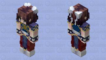 -Chun Li Street fighters- Minecraft Skin
