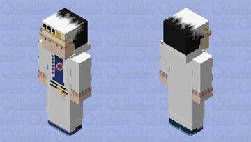 Start Platinum ZA WARUDO | Jotaro Kujo (outfit v2) | JoJo BA | Diamond is Unbreakable Minecraft Skin