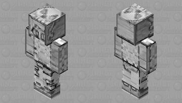Skeleton Hoodie  / Doodle Themed Skin Minecraft Skin