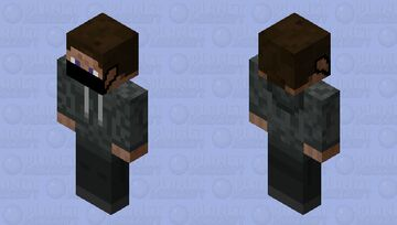 Corona Virus Steve in grey jacket Minecraft Skin