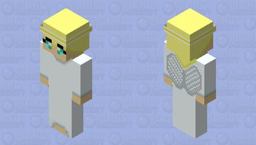 Angel Topper w/ a Cute Twist Minecraft Skin