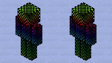 Rainbow Illusion skin Minecraft Skin