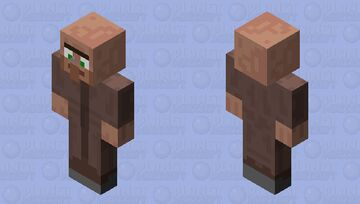 Mosquito on a villager nose Minecraft Skin
