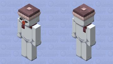 Madotsuki Snowman (Yume Nikki) 32x32 Minecraft Skin