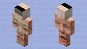 trunp and my father Minecraft Skin