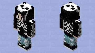 Comix Themed Skeleton Hoodie Minecraft Skin