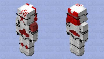 The Red Ghost Minecraft Skin