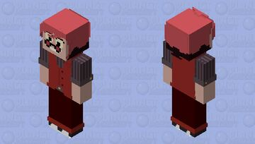 Swap!Alastor (swapped with Charlie) | Hazbin Hotel Minecraft Skin