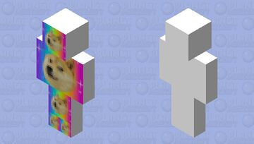 RainbowDogeDog Minecraft Skin