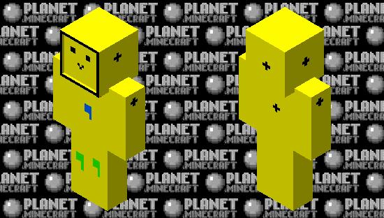 noob in a torn up hazmat suit (stay safe!) Minecraft Skin