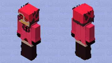 Alastor swapped with Angel Dust Minecraft Skin