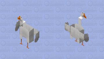 GooseGooseGooseGoose ANGRY HD 128x128 Minecraft Skin