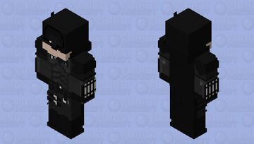 the batman 2021 demo 3 Minecraft Skin