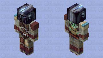 The Mandalorian and Baby Yoda Minecraft Skin