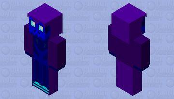 blue skull Nitgo (fan skin) Minecraft Skin