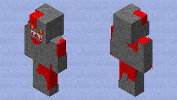 레드스톤 인간 Minecraft Skin
